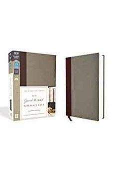 NIV, Journal the Word Reference Bible, Cloth over Board, Burgundy/Gray, Red Letter Edition, Comfort Print 9780310449348
