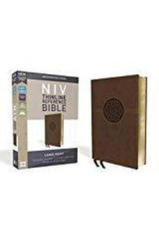 NIV, Thinline Reference Bible, Large Print, Leathersoft, Brown, Red Letter Edition, Comfort Print 9780310449607