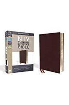 NIV, Thinline Reference Bible, Bonded Leather, Burgundy, Red Letter Edition, Comfort Print 9780310449638