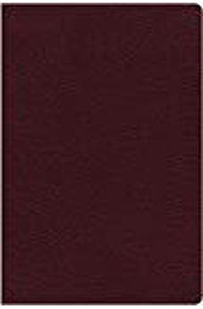NIV, Thinline Reference Bible, Bonded Leather, Burgundy, Red Letter Edition, Indexed, Comfort Print 9780310449645