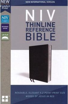 NIV, Thinline Reference Bible, Bonded Leather, Black, Red Letter Edition, Comfort Print 9780310449652