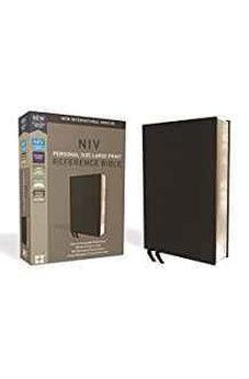 NIV, Personal Size Reference Bible, Large Print, Premium Leather, Calfskin, Black, Red Letter Edition, Comfort Print 9780310449768