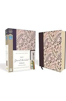 NIV, Journal the Word Bible, Cloth over Board, Pink Floral, Red Letter Edition, Comfort Print 9780310450269