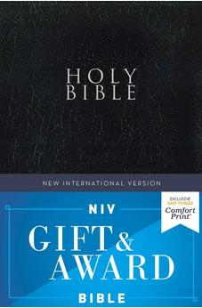 NIV, Gift and Award Bible, Leather-Look, Black, Red Letter Edition, Comfort Print 9780310450375