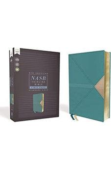 NASB, Thinline Bible, Large Print, Leathersoft, Teal, Red Letter Edition, 1995 Text, Comfort Print 9780310451037