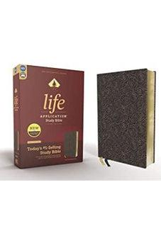 NIV, Life Application Study Bible, Third Edition, Bonded Leather, Navy Floral, Red Letter Edition 9780310452812