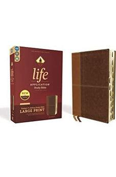 NIV, Life Application Study Bible, Third Edition, Large Print, Leathersoft, Brown, Red Letter Edition, Thumb Indexed 9780310452959
