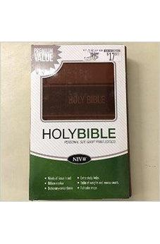 NIV Personal Size Giant Print Holy Bible (Text/Brown Italian Duo-Tone)