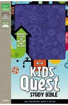 NIrV, Kids' Quest Study Bible, Imitation Leather, Blue: Answers to over 500 Questions about the Bible