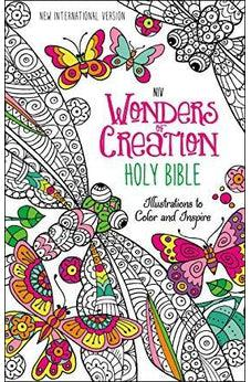 NIV, Wonders of Creation Holy Bible, Hardcover: Illustrations to Color and Inspire