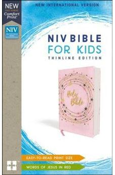 Image of NIV, Bible for Kids, Flexcover, Pink/Gold, Red Letter Edition, Comfort Print: Thinline Edition