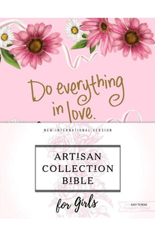 NIV, Artisan Collection Bible for Girls, Cloth over Board, Pink Daisies, Designed Edges under Gilding, Red Letter Edition, Comfort Print
