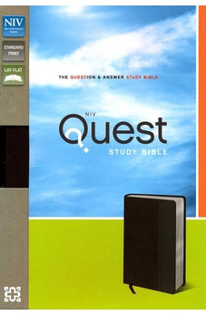 NIV Quest Study Bible, Leathersoft, Brown/Gray