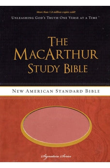 NASB, The MacArthur Study Bible, Imitation Leather, Brown/Orange (Signature)