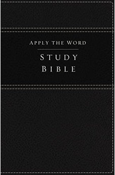 NKJV, Apply the Word Study Bible, Imitation Leather, Black, Indexed, Red Letter Edition: Live in His Steps