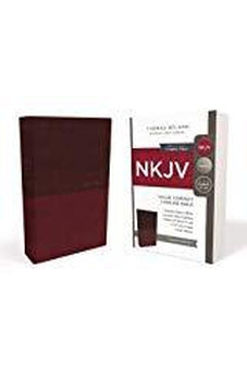 NKJV, Value Thinline Bible, Compact, Leathersoft, Burgundy, Red Letter Edition, Comfort Print