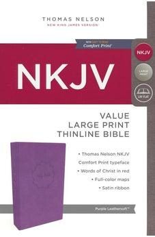 NKJV, Value Thinline Bible, Large Print, Leathersoft, Purple, Red Letter Edition, Comfort Print 9780718075590
