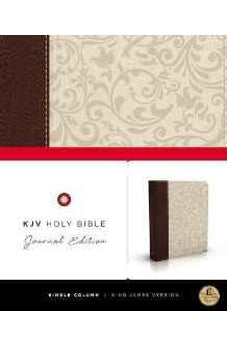 KJV, Holy Bible, Journal Edition, Imitation Leather, Brown/Cream, Red Letter Edition 9780718080433