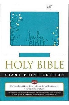 NKJV Giant Print Holy Bible Aqua Imitation Leather 9780718081430