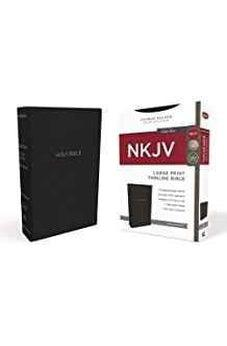 NKJV, Thinline Bible, Large Print, Leathersoft, Black, Red Letter Edition, Comfort Print 9780718081829