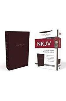 NKJV, Thinline Bible, Large Print, Leathersoft, Burgundy, Red Letter Edition, Comfort Print 9780718085414