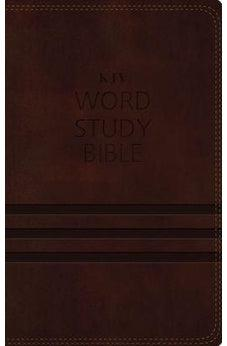 KJV, Word Study Bible, Leathersoft, Brown, Red Letter Edition: 1,700 Key Words that Unlock the Meaning of the Bible 9780718085452