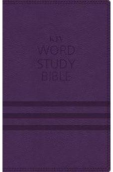 KJV, Word Study Bible, Imitation Leather, Purple, Red Letter Edition: 1,700 Key Words that Unlock the Meaning of the Bible 9780718085629