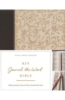 KJV, Journal the Word Bible, Imitation Leather, Brown/Cream, Red Letter Edition: Reflect, Journal, or Create Art Next to Your Favorite Verses 9780718089634