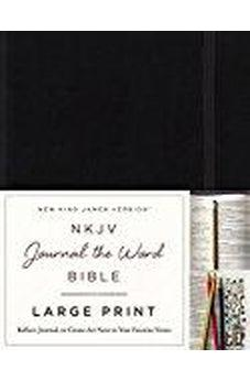 NKJV, Journal the Word Bible, Large Print, Hardcover, Black, Red Letter Edition: Reflect, Journal, or Create Art Next to Your Favorite Verses 9780718090838