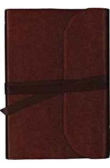 NKJV, Journal the Word Bible, Large Print, Premium Leather, Brown, Red Letter Edition: Reflect on Your Favorite Verses 9780718090920