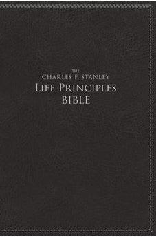 NIV, The Charles F. Stanley Life Principles Bible, Leathersoft, Black 9780718097066