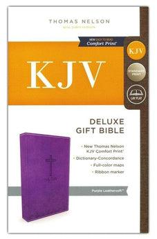 KJV, Deluxe Gift Bible, Leathersoft, Purple, Red Letter Edition, Comfort Print 9780718097844