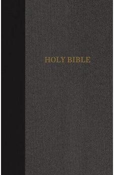 KJV, Thinline Bible, Large Print, Cloth over Board, Black/Gray, Red Letter Edition, Comfort Print