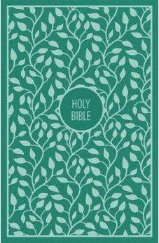 KJV, Thinline Bible, Large Print, Cloth over Board, Green, Red Letter Edition, Comfort Print 9780718097998