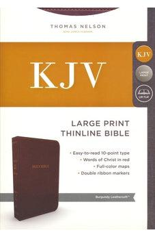 KJV, Thinline Bible, Large Print, Leathersoft, Burgundy, Red Letter Edition, Comfort Print 9780718098131