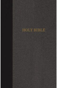 KJV, Thinline Bible, Standard Print, Cloth over Board, Black/Gray, Red Letter Edition, Comfort Print 9780718098148