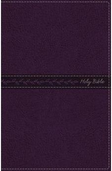 KJV, Thinline Bible, Standard Print, Leathersoft, Purple, Red Letter Edition, Comfort Print 9780718098254