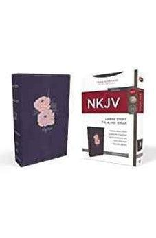 NKJV, Thinline Bible, Large Print, Leathersoft, Blue/Pink, Red Letter Edition, Comfort Print 9780718099299