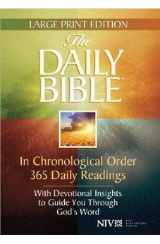 NIV Daily Bible In Chronological Order, Large Print: 365 Daily Readings
