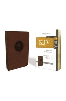 KJV, Reference Bible, Giant Print, Leathersoft, Brown, Red Letter Edition, Comfort Print 9780785215400