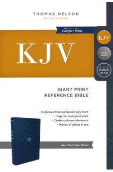 KJV, Reference Bible, Giant Print, Cloth over Board, Blue, Red Letter Edition, Comfort Print 9780785215455