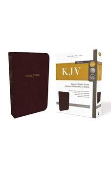 KJV, Deluxe Reference Bible, Super Giant Print, Leathersoft, Burgundy, Red Letter Edition, Comfort Print 9780785215684