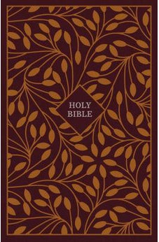 KJV, Thinline Reference Bible, Cloth over Board, Burgundy/Orange, Red Letter Edition, Comfort Print 9780785215851