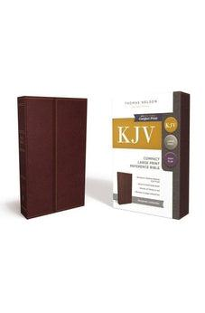 KJV, Reference Bible, Compact, Large Print, Snapflap Leather-Look, Burgundy, Red Letter Edition, Comfort Print 9780785215882