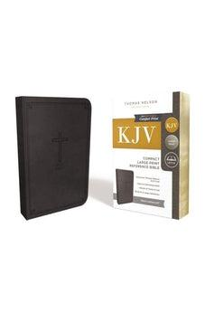 KJV, Reference Bible, Compact, Large Print, Leathersoft, Black, Red Letter Edition, Comfort Print 9780785215899