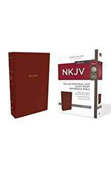 NKJV, Deluxe Reference Bible, Personal Size Giant Print, Leathersoft, Red, Red Letter Edition, Comfort Print 9780785216902
