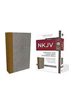 NKJV, Reference Bible, Personal Size Giant Print, Cloth over Board, Tan/Gray, Red Letter Edition, Comfort Print 9780785217008