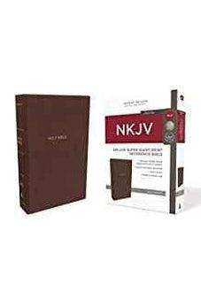 NKJV, Deluxe Reference Bible, Super Giant Print, Leathersoft, Brown, Red Letter Edition, Comfort Print 9780785217473