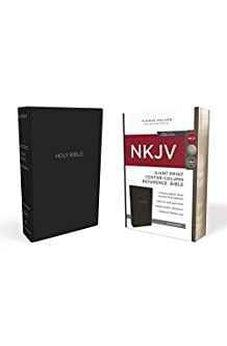 NKJV, Reference Bible, Center-Column Giant Print, Leather-Look, Black, Red Letter Edition, Comfort Print 9780785217565