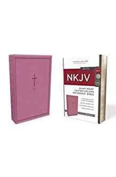 NKJV, Reference Bible, Center-Column Giant Print, Leathersoft, Pink, Red Letter Edition, Comfort Print 9780785217770